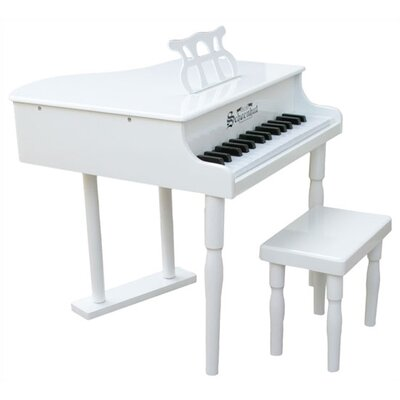 Schoenhut 30 Key Classic Baby Grand Piano in White