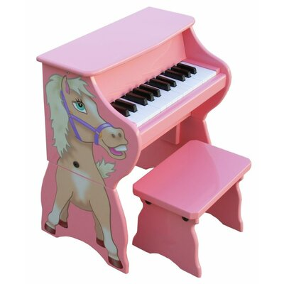 Schoenhut 25 Key Horse with Bench in Pink