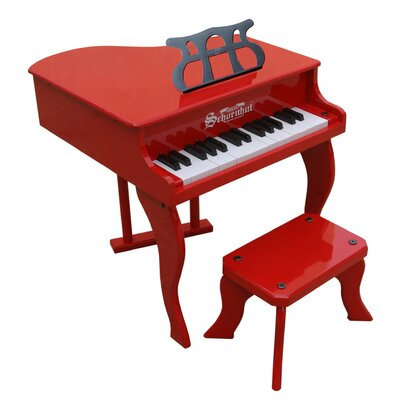 Fancy Baby Grand Piano in Red
