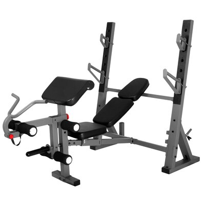 International Adjustable Olympic Bench with Preacher Curl Attachment