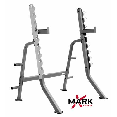 Commercial Multi Press Squat Rack with Plate Weight Storage