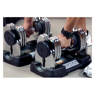 Bayou Fitness Pair of 50 lbs Adjustable Dumbbells