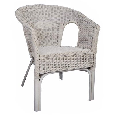 Small white wicker chair white wicker rocking chair with for Small white armchair