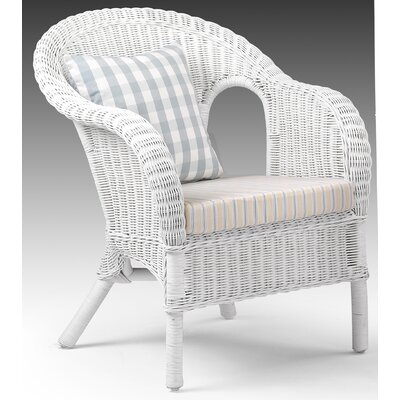 house additions rattan armchair in white reviews