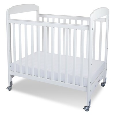 Serenity Compact Size Fixed Side Clearview Crib