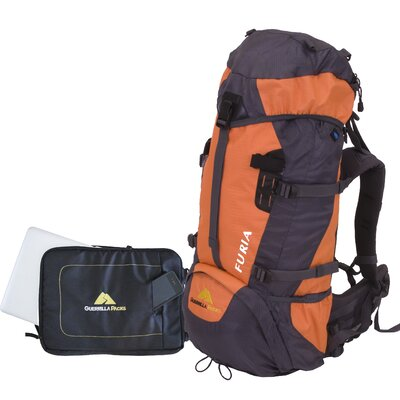 Guerrilla Packs Furia 2.0 Hiking Travel Backpack with Detachable Laptop Sleeve