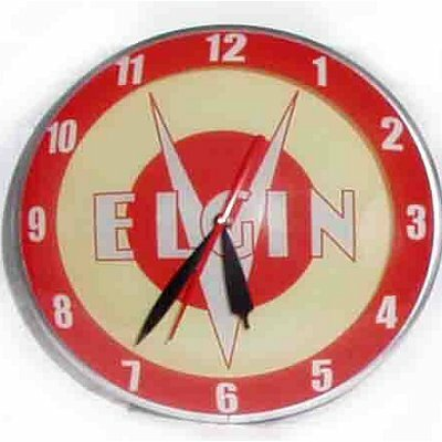 Double Bubble Elgin Bicycle Glass Clock
