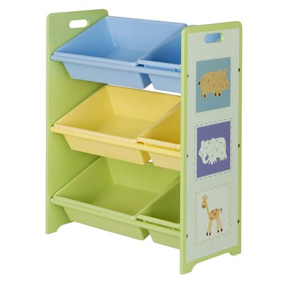 OS Home & Office Furniture Toy Storage Bookcase with Tubs