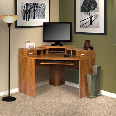 OS Home & Office Furniture Office Adaptations Corner Desk with Monitor