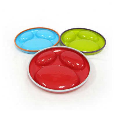 Boon 3 Pack Asst Saucer Stayput Plates in Blue Raspberry / Grape / Cherry