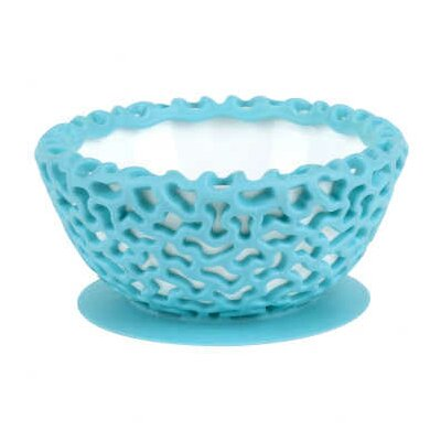 Wrap Protective Bowl Cover with Suction Cup Base in Blue Raspberry (Set of 2)