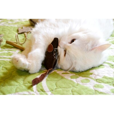 ABO Gear Leather Mouse Cat Toy