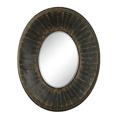 Creative Co-Op Haven Oval Beveled Glass Wall Mirror