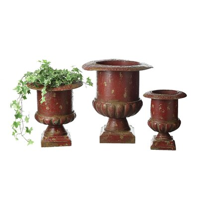 Casual Country Metal Urns (Set of 3)