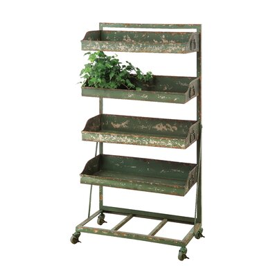 Metal 4-Tier Shelf Unit on Wheel