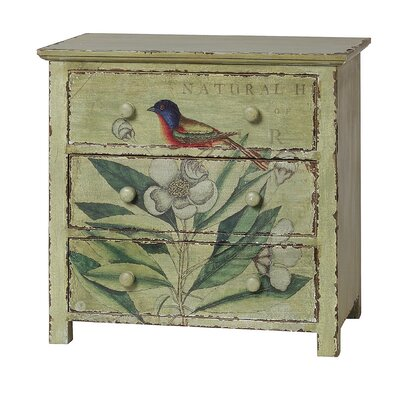 Creative Co-Op Catesby Collage 3 Drawer Chest