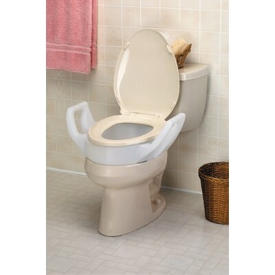 Bath Safe Elevated Toilet Seat with Arms