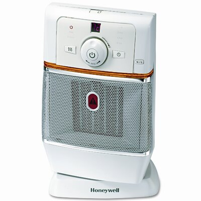 Honeywell 1,500 Watt Ceramic Compact Electronic Space Heater with Oscillating Tip-Over switch