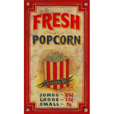 Vintage Signs Popcorn Vintage Advertisement Plaque ...