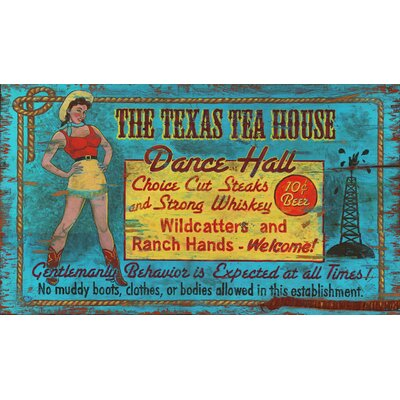 Vintage Signs Texas Tea House Vintage Sign
