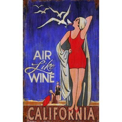 Air Like Wine Vintage Sign
