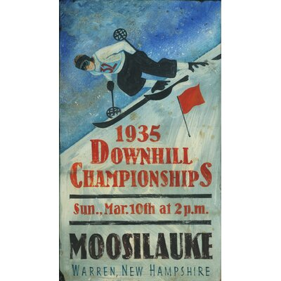 Vintage Signs Downhill Championship Vintage Sign