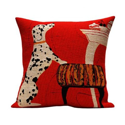 Jules Pansu Dalmatian Tapestry Cotton Twill Pillow