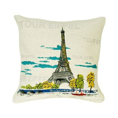 Jules Pansu Tour Eiffel Pop Tapestry Cotton Twill Pillow
