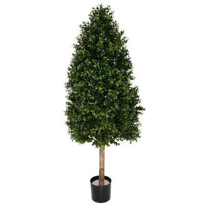 Artificial Boxwood Square Cone Topiary in Pot