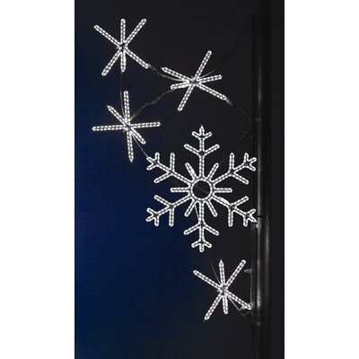 Pole Decoration Snowflake Cascade in Pure White