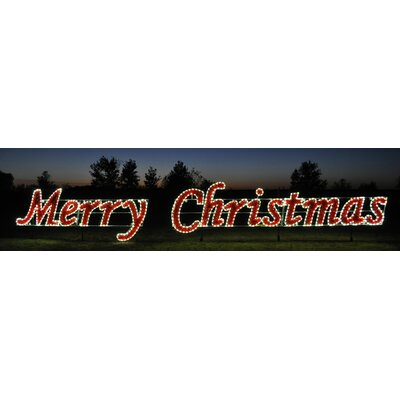 Holiday Lighting Specialists Merry Christmas Script in Warm White