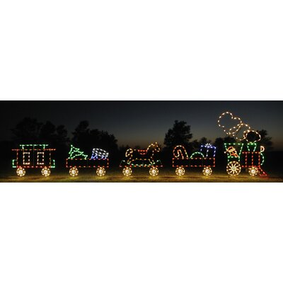 Holiday Lighting Specialists Flat Car with Rocking Horse Light