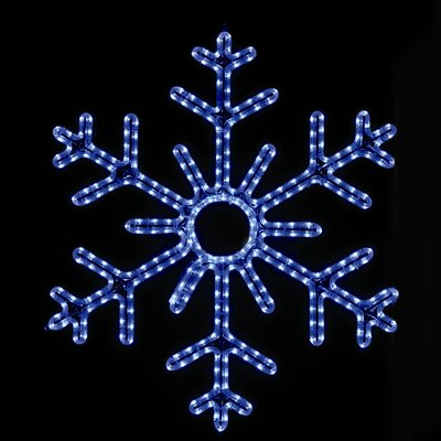 "Holiday Lighting Specialists 36"" Hanging Snowflake in Blue"