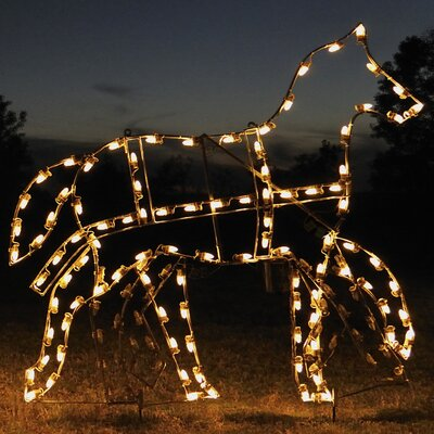 Holiday Lighting Specialists Animated Victorian Horse Light