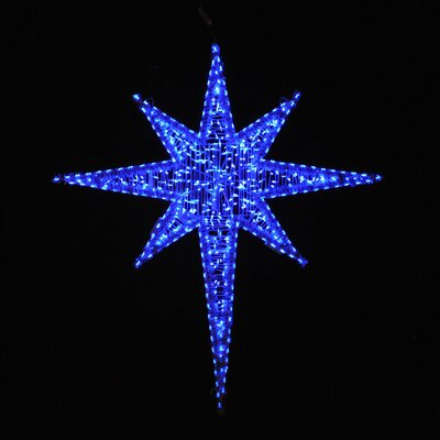 "Holiday Lighting Specialists 72"" Moravian Star in Blue"
