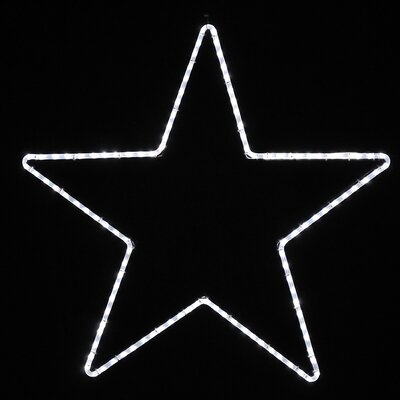 Large Five Point Star Led Rope Light