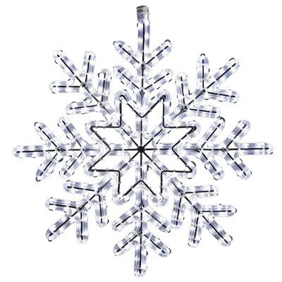 Holiday Lighting Specialists Twinkle 8 Snowflake Rope Light