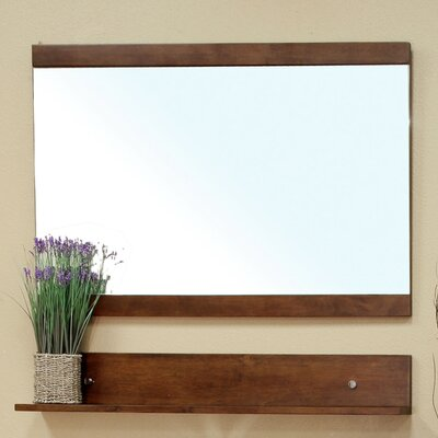 "Bellaterra Home Crenshaw 33.5"" H x 39.4"" W Bathroom Mirror"