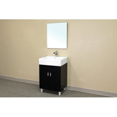 Bellaterra Home Graham Beveled Bathroom Mirror in Espresso