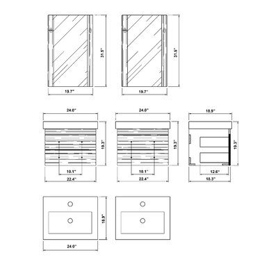 "Bellaterra Home Pickering 49"" Double Bathroom Vanity Set"