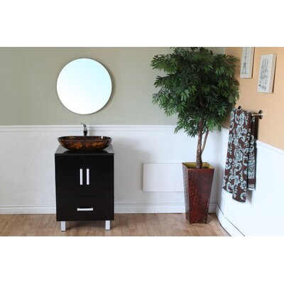 Bellaterra Home Chandler Round Beveled Bathroom Mirror