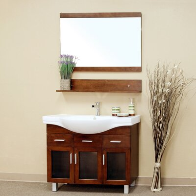 "Bellaterra Home Crenshaw 39.8"" Single Vanity Set"