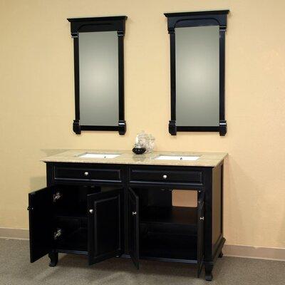 """Bellaterra Home Brantforth 62"""" Double Vanity Set"""