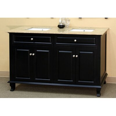 "Bellaterra Home Brantforth 62"" Double Vanity Set"