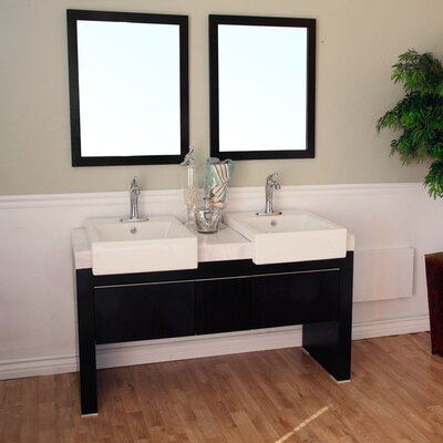 "Bellaterra Home Essex 57.75"" Double Vanity Set"