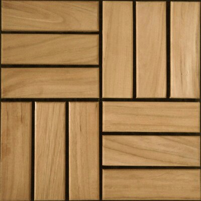 SAMPLE - Teak Interlocking Parquet Deck Tiles in Select