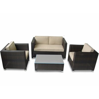 Kontiki 4 Piece Deep Seating Group with Cushions