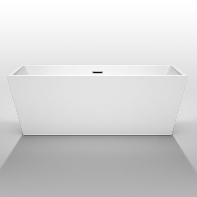 """Wyndham Collection Sara 67"""" x 31.5"""" Soaking Bathtub"""