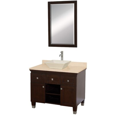 Wyndham Collection Premiere Bathroom Vanity Set