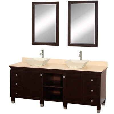 Wyndham Collection Premiere 72&quot; Double Bathroom Vanity Set